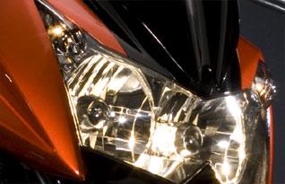 Kawasaki Z1000 2009 Scheinwerfer